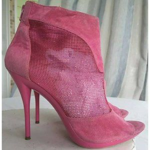 Promise Womens Ankle Boots Booties Pink Stiletto
